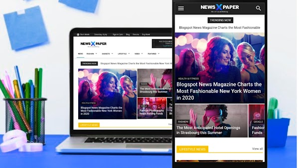 Newspaper x Blogger Template viospaper theme review