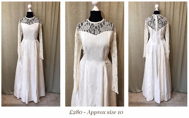 long sleeve sweetheart illusion neckline lace vintage wedding dress from vintage lane bridal boutique bolton