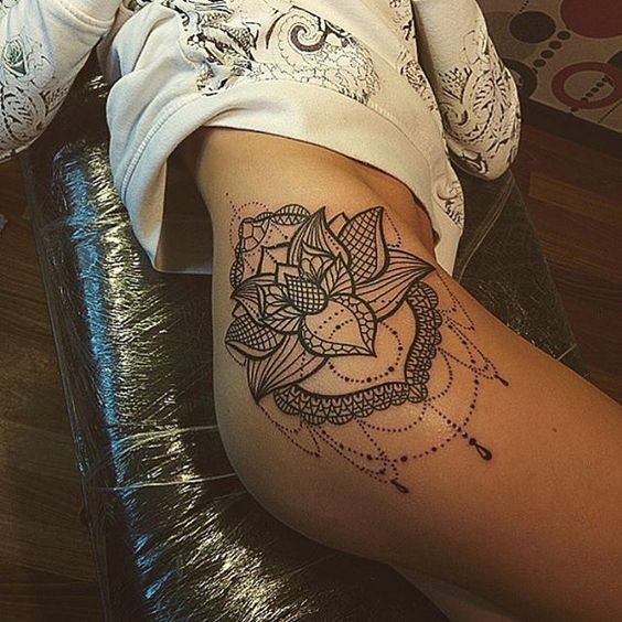 10 super hot butt thigh tattoos for women pop tattoo for Getting thigh tattoo