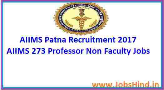 AIIMS Patna Recruitment 2017