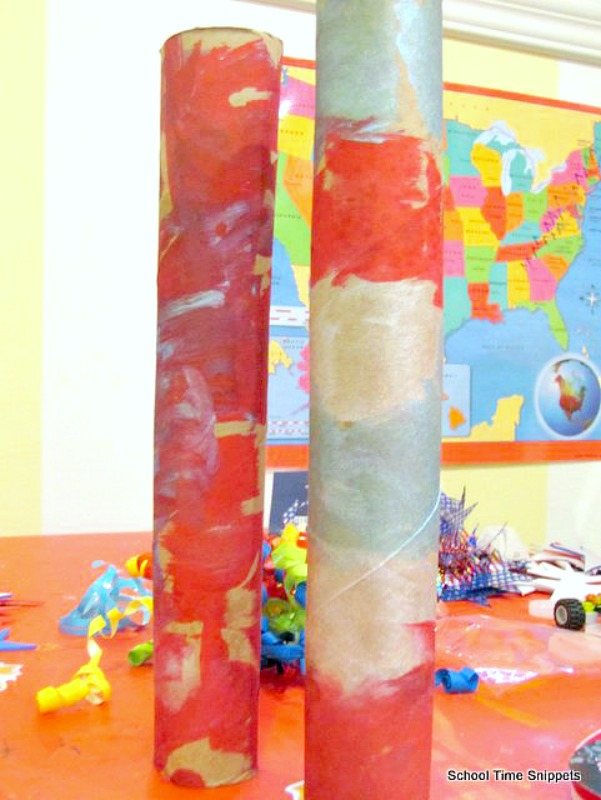 4th of July Noisemaker Craft Using Paper Tubes