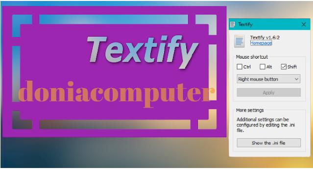 نسخ ولصق النصوص الغير القابلة للنسخ في الويندوز Textify