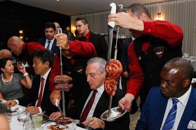 Temer - jantar - importadores - carne - Brasil