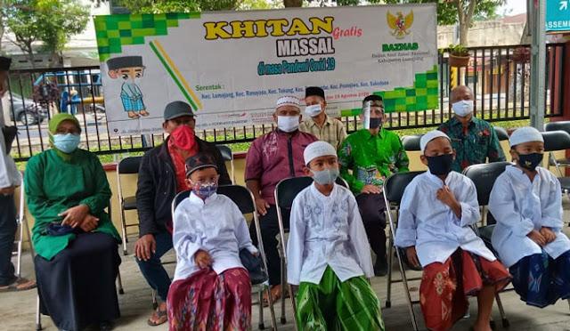 120 Anak Ikuti Khitan Massal Gratis Baznas Lumajang