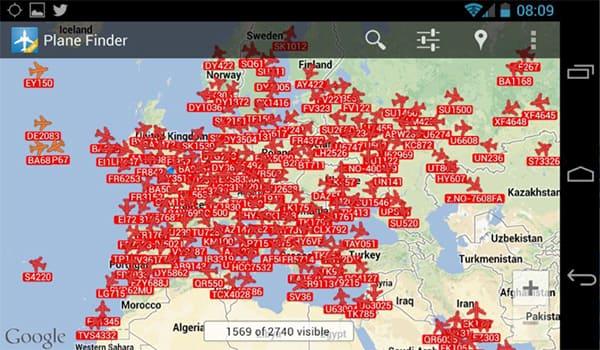اكتشف وجهة سفر أي طائرة مع التطبيق المجاني Plane Finder Lite