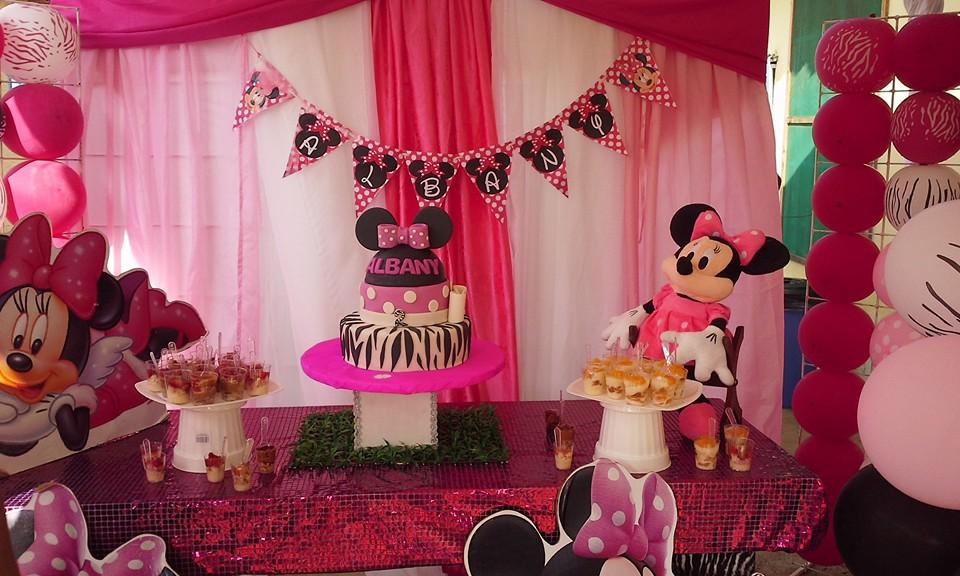 Enfoque 3d Eventos Decoracion Fiesta Minnie Rosa