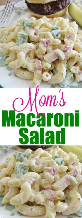 The Best Macaroni Salad recipe starts with macaroni noodles, peppers, onions and radishes and is mixed with a secret-ingredient creamy dressing!