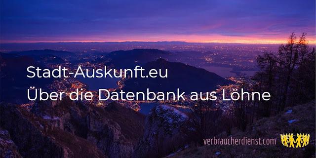 Titel: Stadt-Auskunft.eu – Über die Datenbank aus Löhne