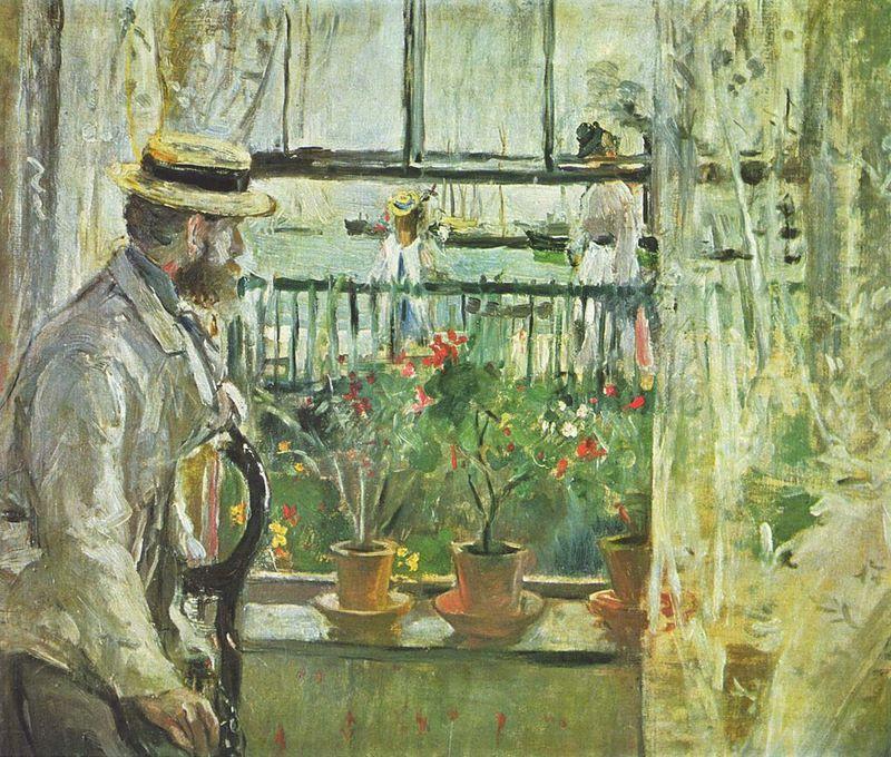 Eugène Manet à l'île de Wight. Berthe Morisot (1875).
