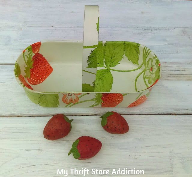 vintage strawberry basket