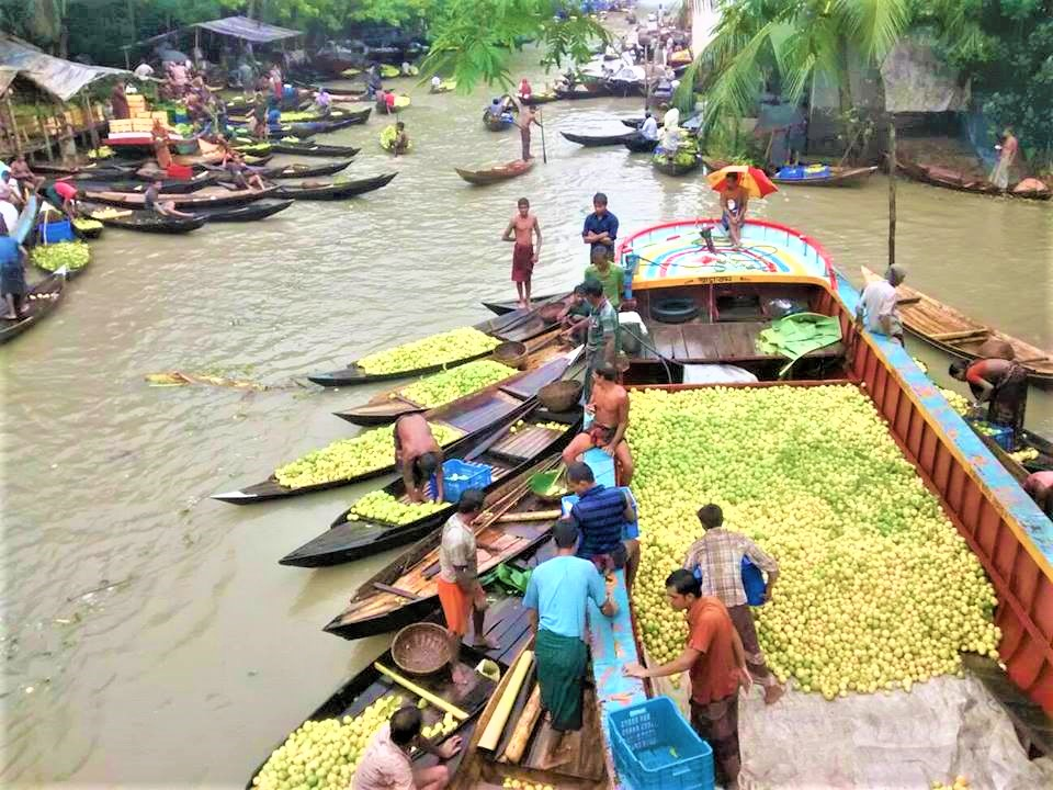 Floating Market in Barisal