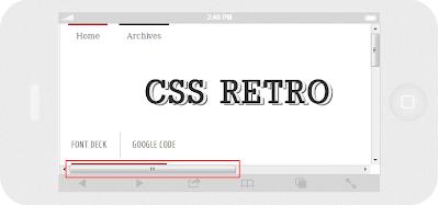 Media Queries Horizontal Scroll Issue - CSS Retro