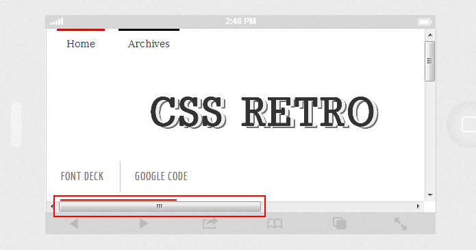 Media Queries Horizontal Scroll Issue - CSS Retro