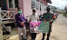 Kampanye Bahayanya COVID-19, Babinsa Desa Nanga Sokan Terus berikan Sosialisasi pada Warga