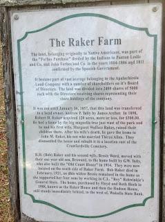 Crawfordville Florida Park Marker Raker Farm