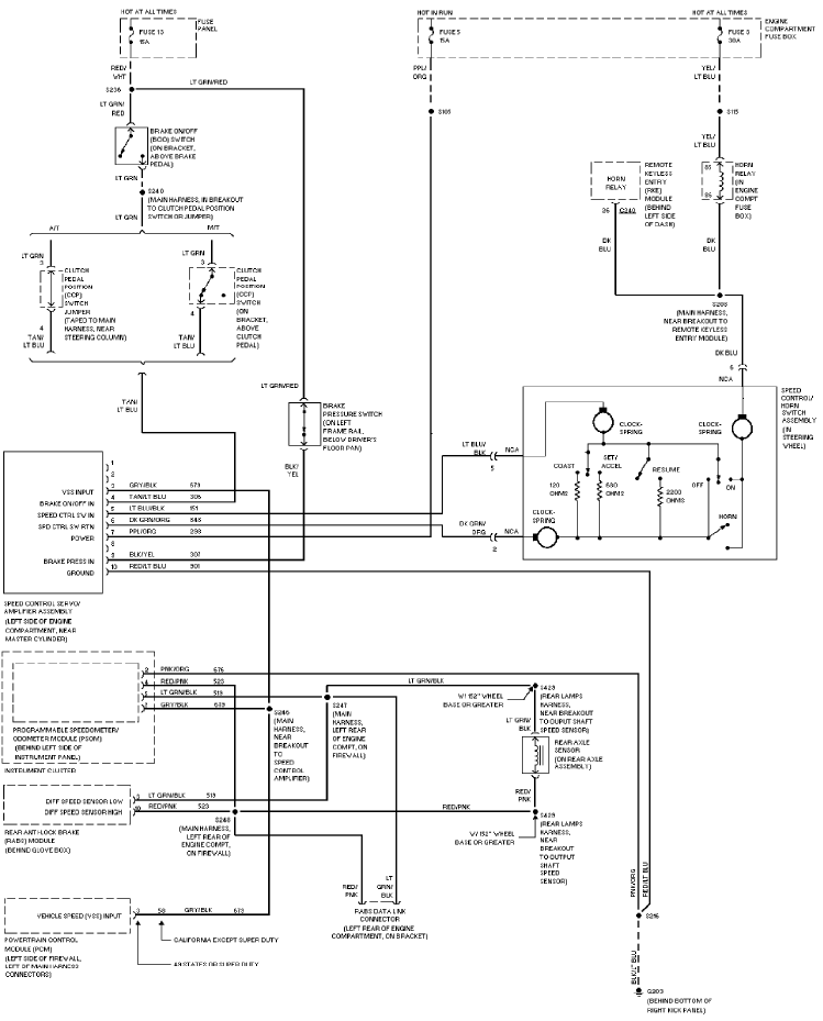 1997 ford pickup f350 system wiring diagram | service ... 1997 ford f250 trailer wiring diagram 1995 ford f250 trailer wiring diagram