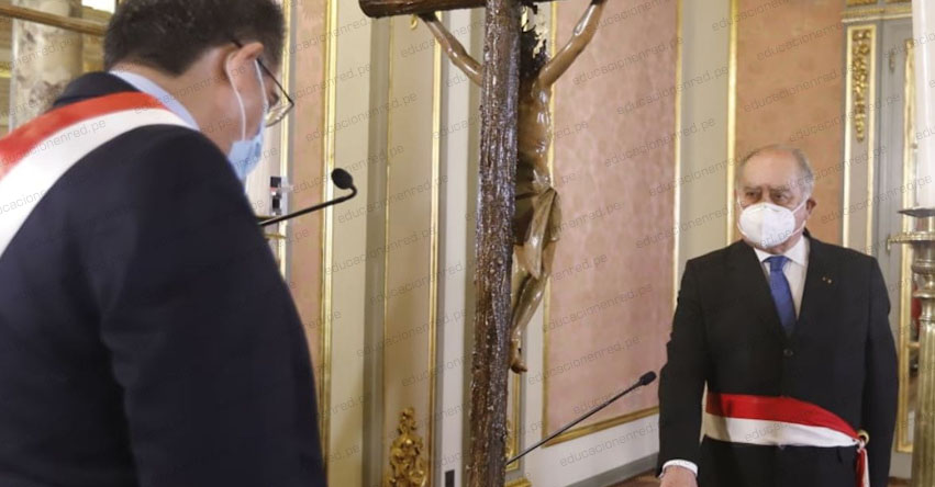PCM: Ántero Flores-Aráoz juramentó como presidente del Consejo de Ministros