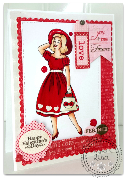This is an image of a Valentine's Day Card created In The Crafting Cave for Love Is In The Air