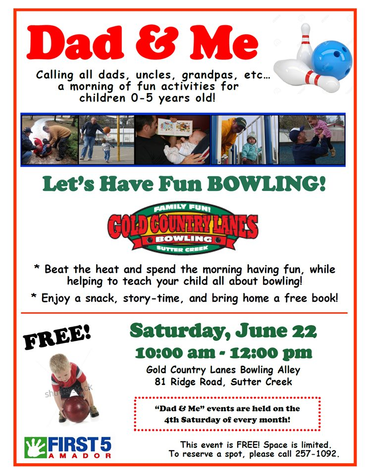 Dad & Me: Let's Have Fun Bowling! Sat June 22