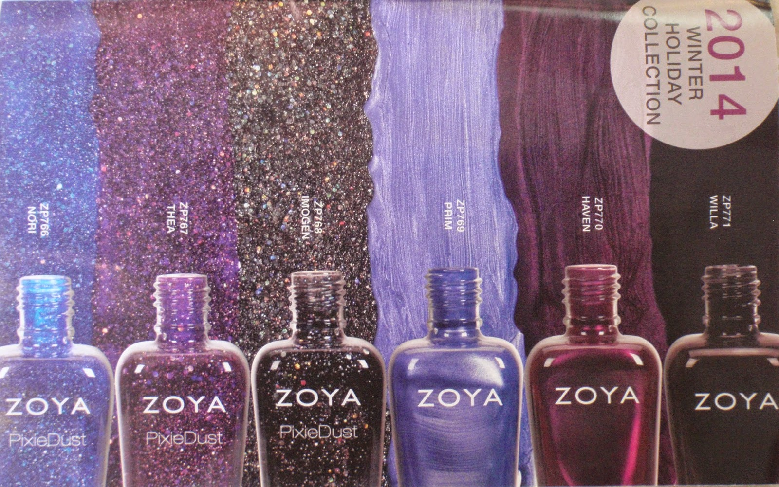 Zoya's 2014 winter/holiday collection.