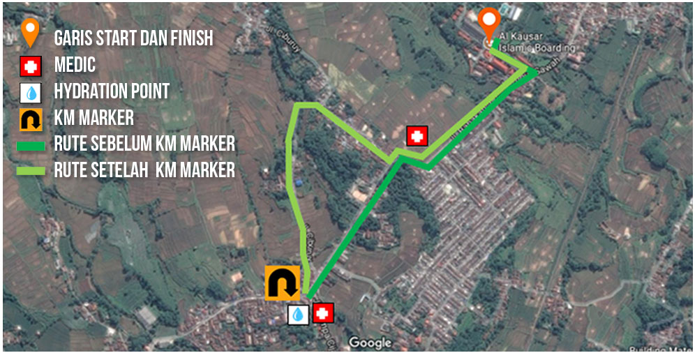 Alka Green Run Route • 2018