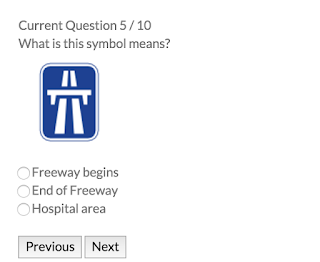 RTA theory test sample questions