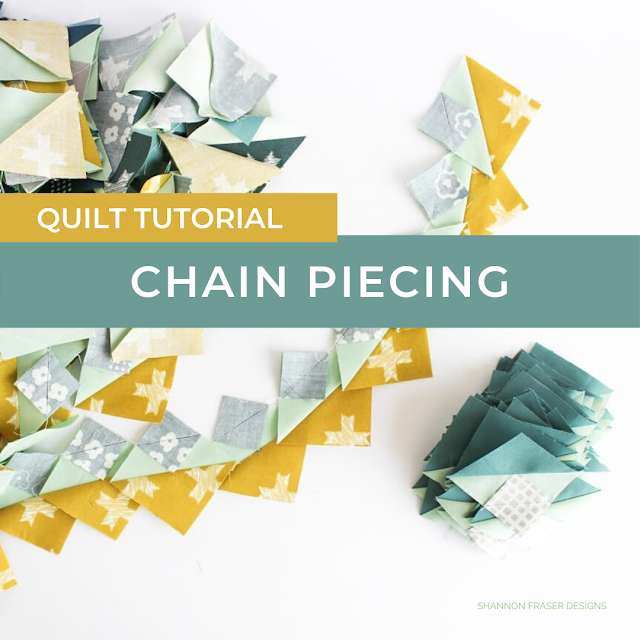 How to chain piece quilt blocks | Quilt Tutorial | Shannon Fraser Designs #quilting #quilttutorial #howtoquilt #chainpiecing