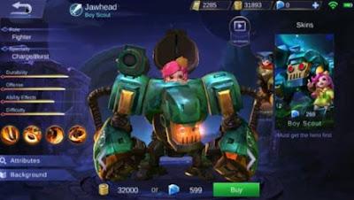 Build Hero Jawhead Mobile Legends Terbaru dan Tersakit