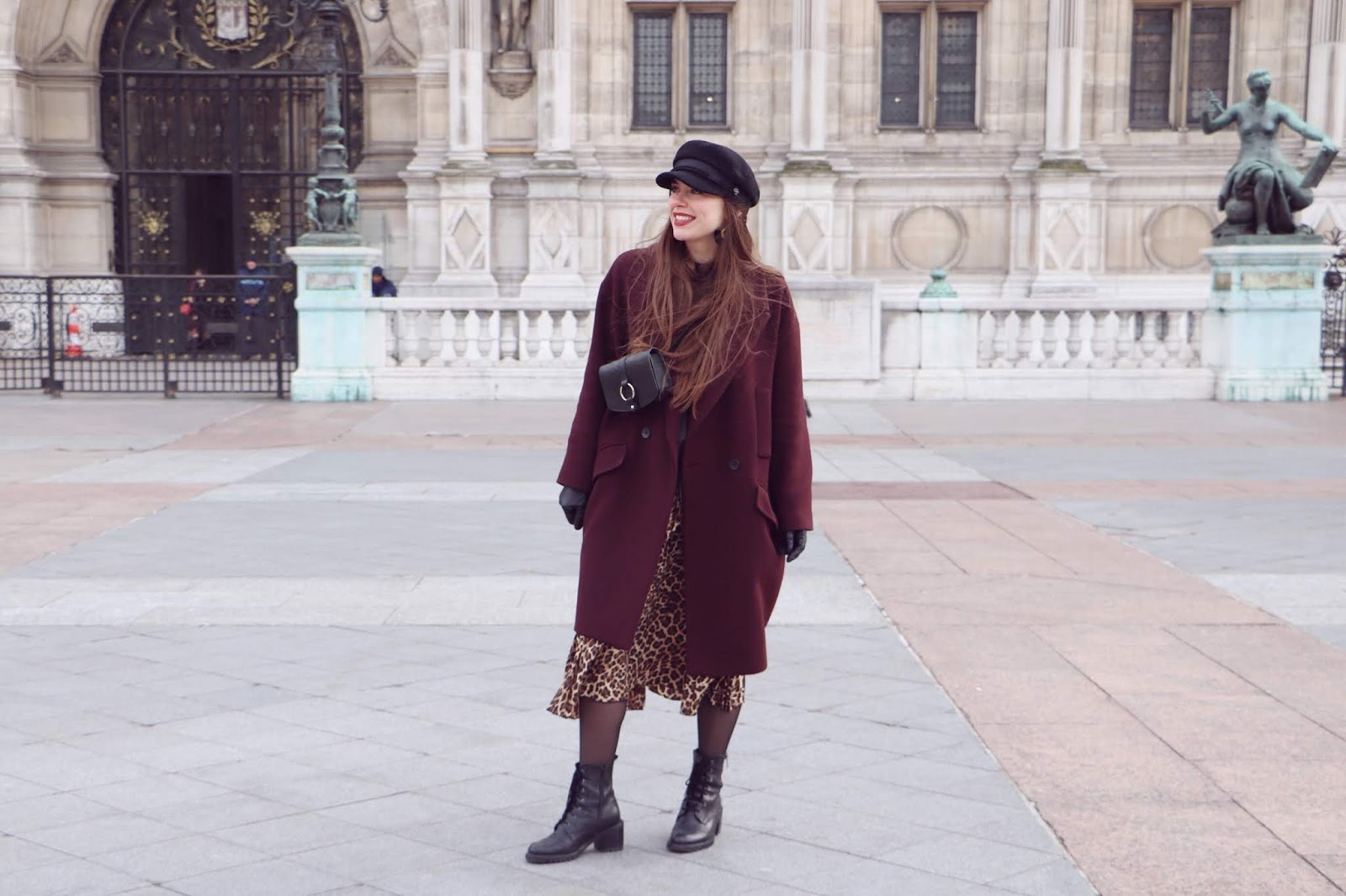 manteau oversize bordeaux 9