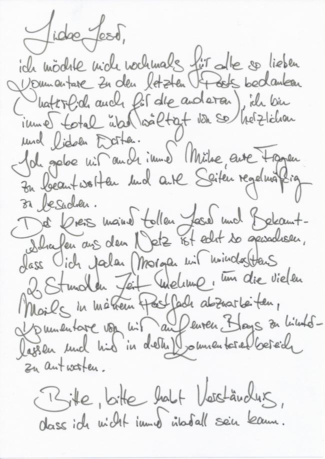 Kennenlernen Briefe Schreiben Achim Reichel Singles