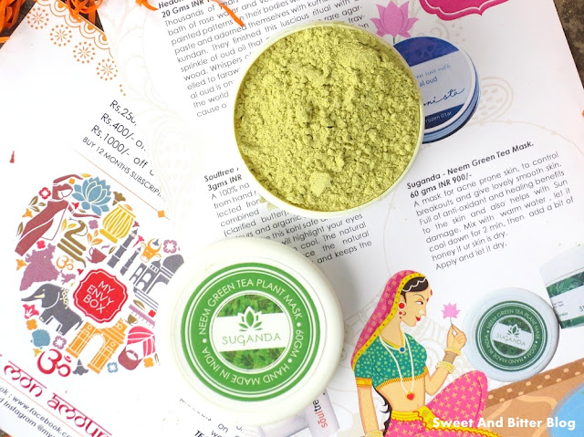 Sugandha Neem Green Tree Plant Mask August Envy Box 2015