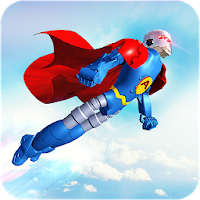 Flying Hero Robot Transform Car: Robot Games for Android