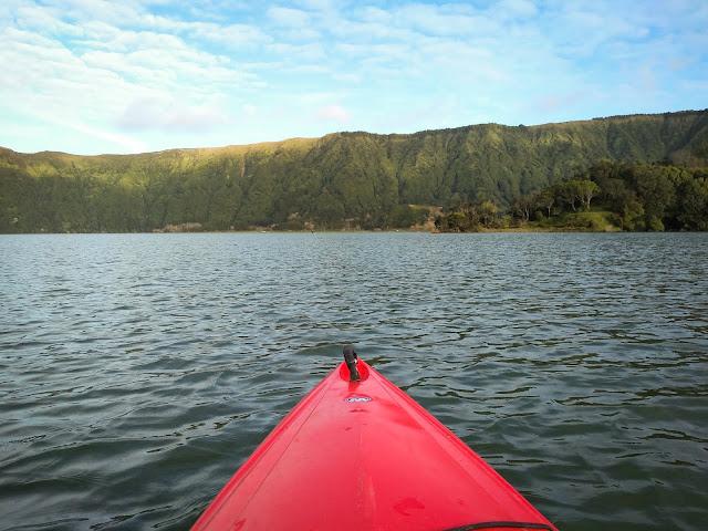 Kayaking at Sete Cidades; São Miguel, Azores