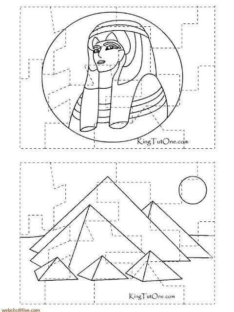 Pirâmides do Egito colorir