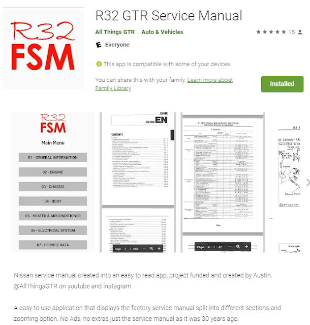 R32 GT-R Android Service Manual in English