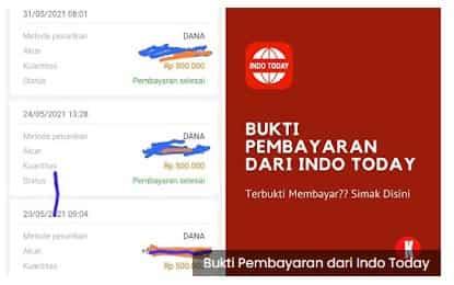 Bukti Pembayaran dari Indo Today ke DANA, Ternyata Benar Membayar!