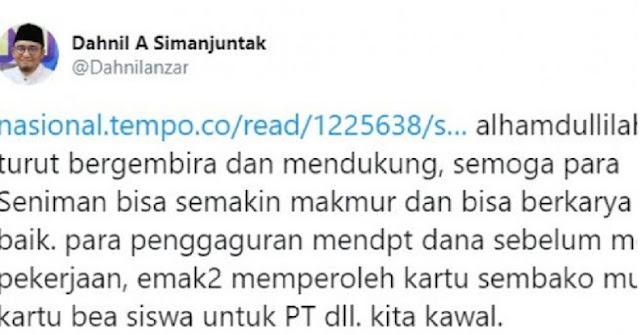 Dukung Pengangguran Digaji, Jubir Prabowo Promosi Program Jokowi?