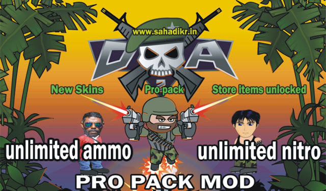 Download Free latest mini militia mod APK unlimited ammo and Nitro