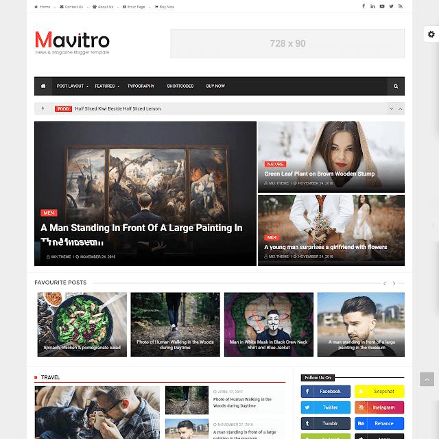 Mavitro blogger template