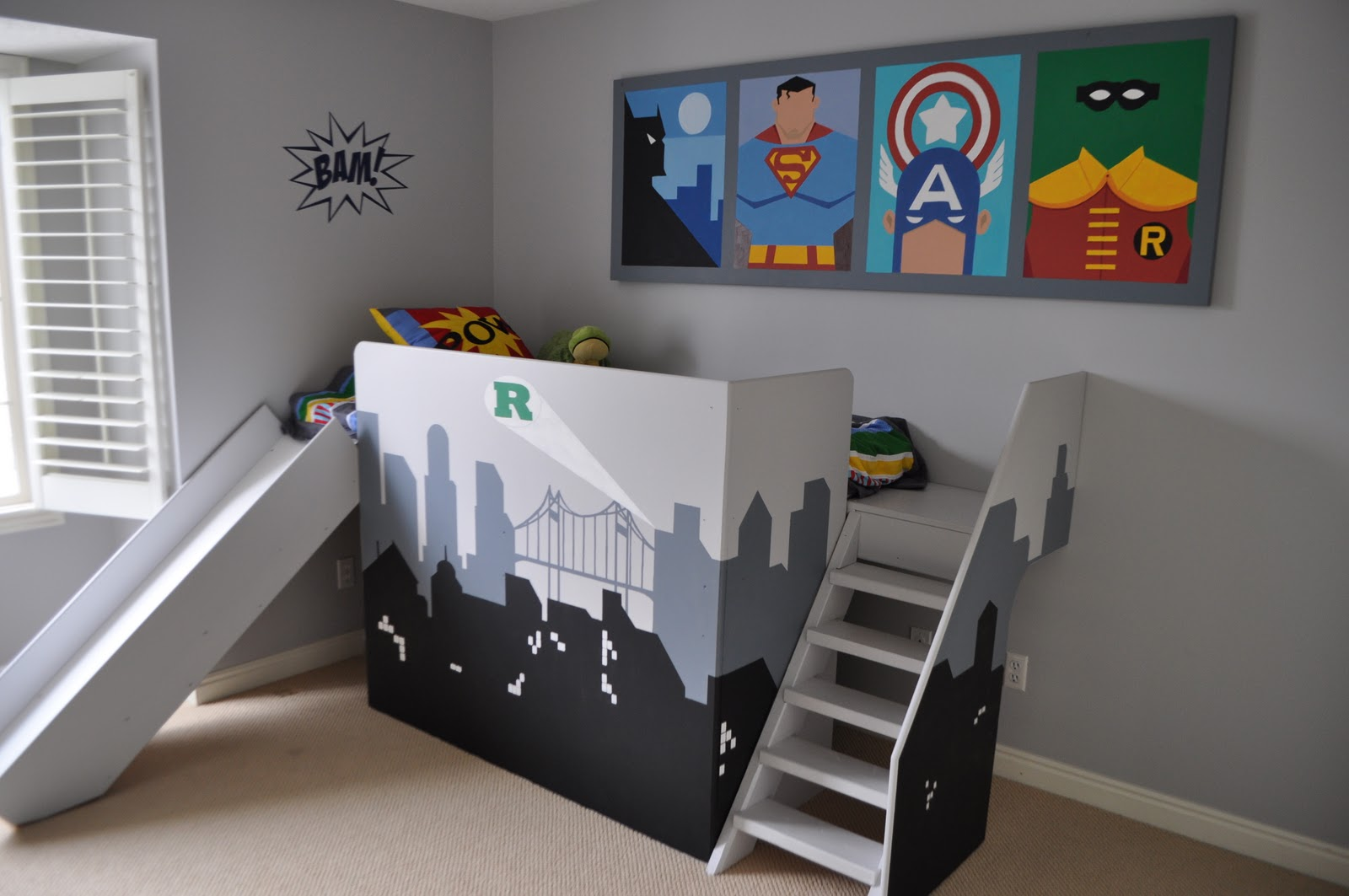 Remodelaholic | Amazing Superhero Boys Room!