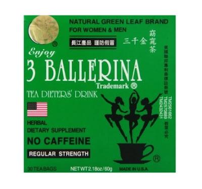 Productos Quemadores de Grasa para adelgazar o bajar de peso - 3 Ballerina Herbal Tea (30 Bolsitas).