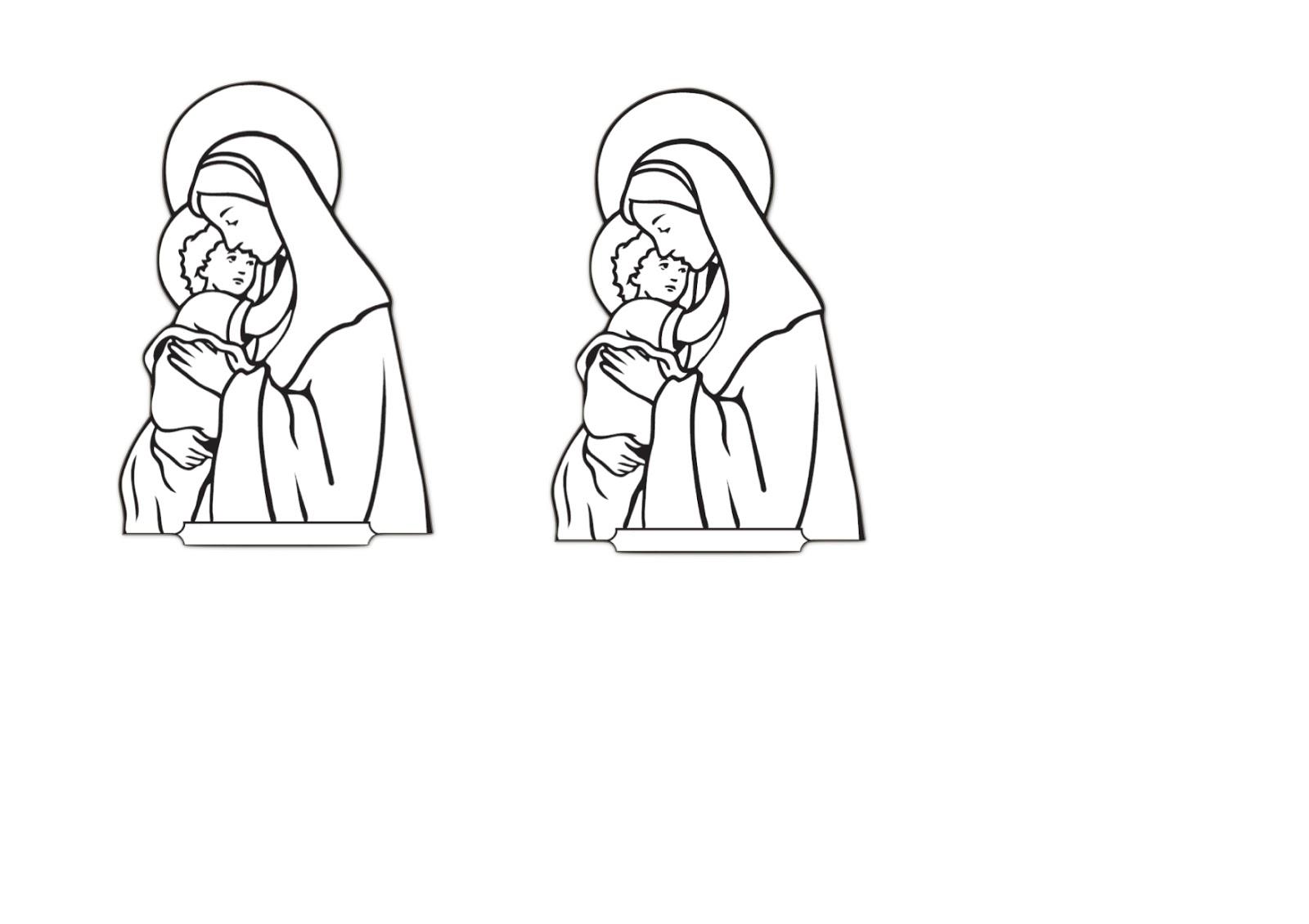 Koleksi Mewarnai Gambar Bunda Maria