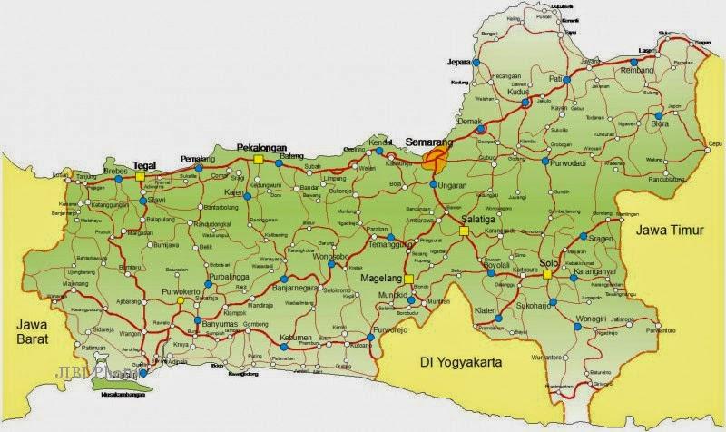 Peta Jawa Tengah, Peta Jalan