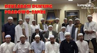 Giliran Aa Gym dan Ust. Arifin Ilham Deklarasi Dukung 02 Prabowo-Sandi