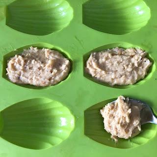 Pâte de madeleine des rois à la noisette avant cuisson