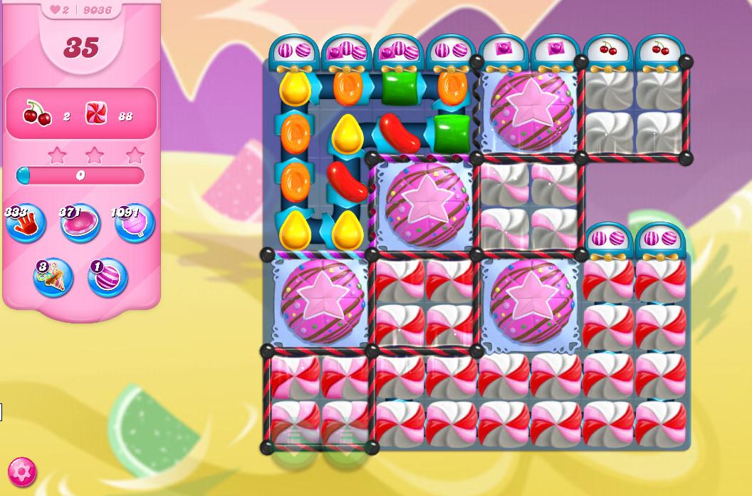 Candy Crush Saga level 9036
