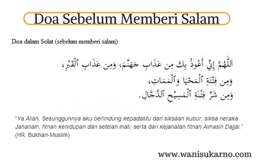 doa sebelum memberi salam
