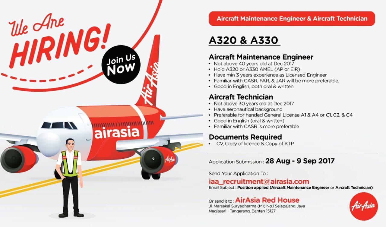 Indonesia] Aircraft Maintenance Engineer & Aircraft