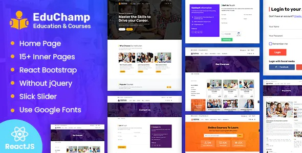 Best Education React Template