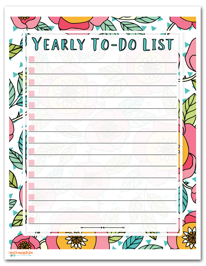 Yearly To Do List